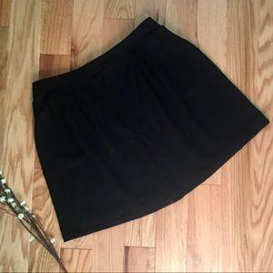 Madewell Black Ponte Skirt
